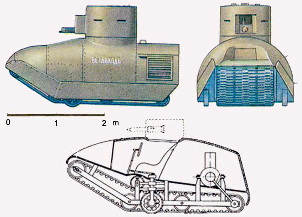 Экспериментальный танк 'Вездеход' Александра Пороховщикова