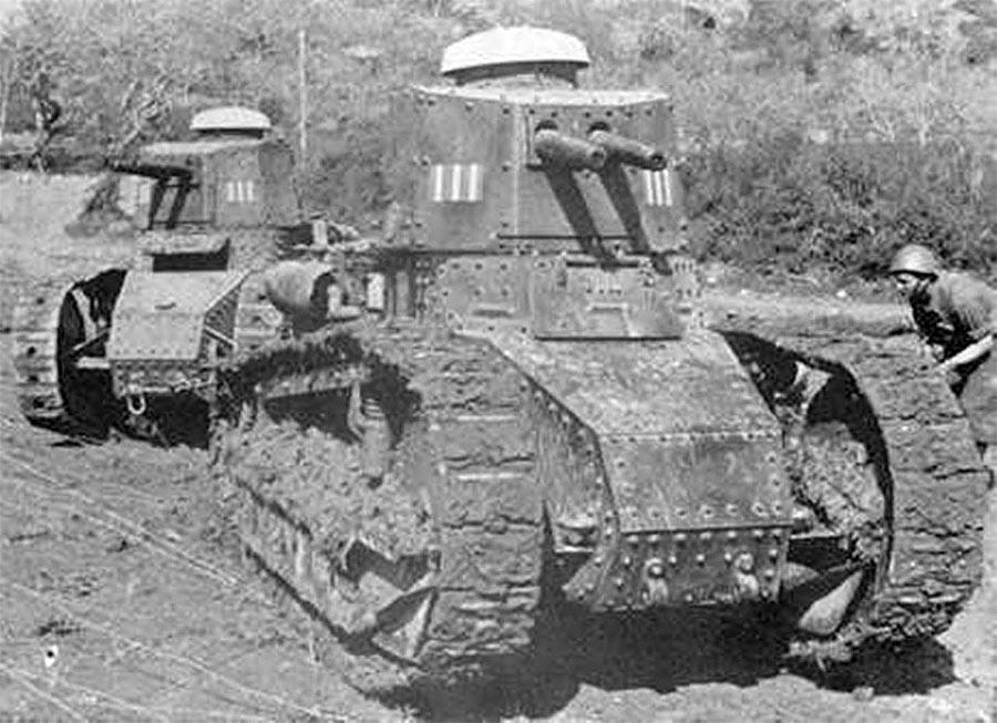 если отбросить размеры итальянских танков Fiat 3000, то выглядели они весьма... впечатляюще