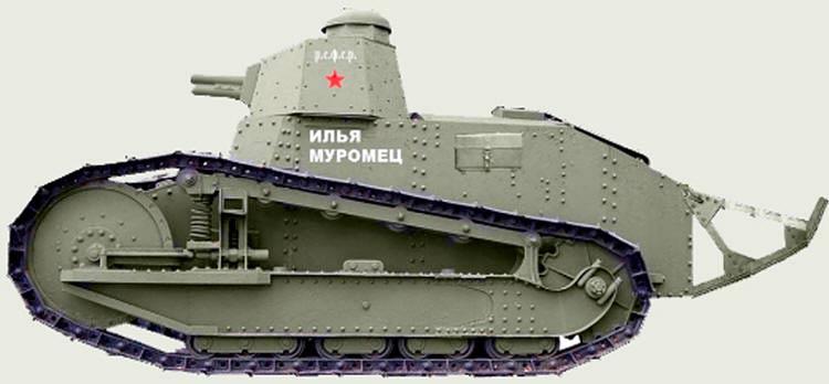 танк 'Русский Рено', выпускался по лицензии в России
