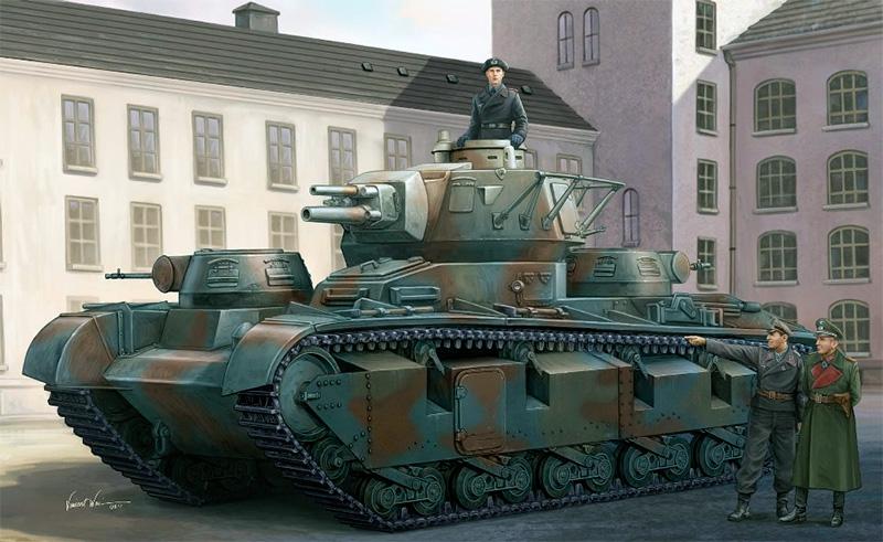 Тяжелый многобашенный танк «Neubaufahrzeug» или точнее Pz.Kpfw NbFz V фирмы «Рейнметалл»