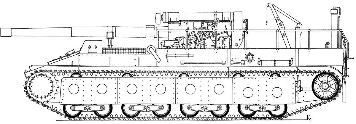Чертеж СУ-14 в исходном варианте