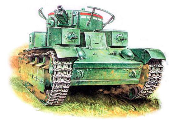 Танк Т-28 с 'родной' короткоствольной пушкой кировского завода и поручневой антенной