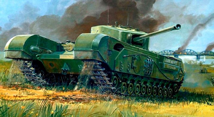 Английский <a href='https://arsenal-info.ru/b/book/148201921/4' target='_self'>пехотный танк</a> Mark IV «Черчиль» (А22)
