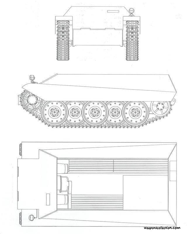 Чертеж бронетранспортера «Kaetzchen»