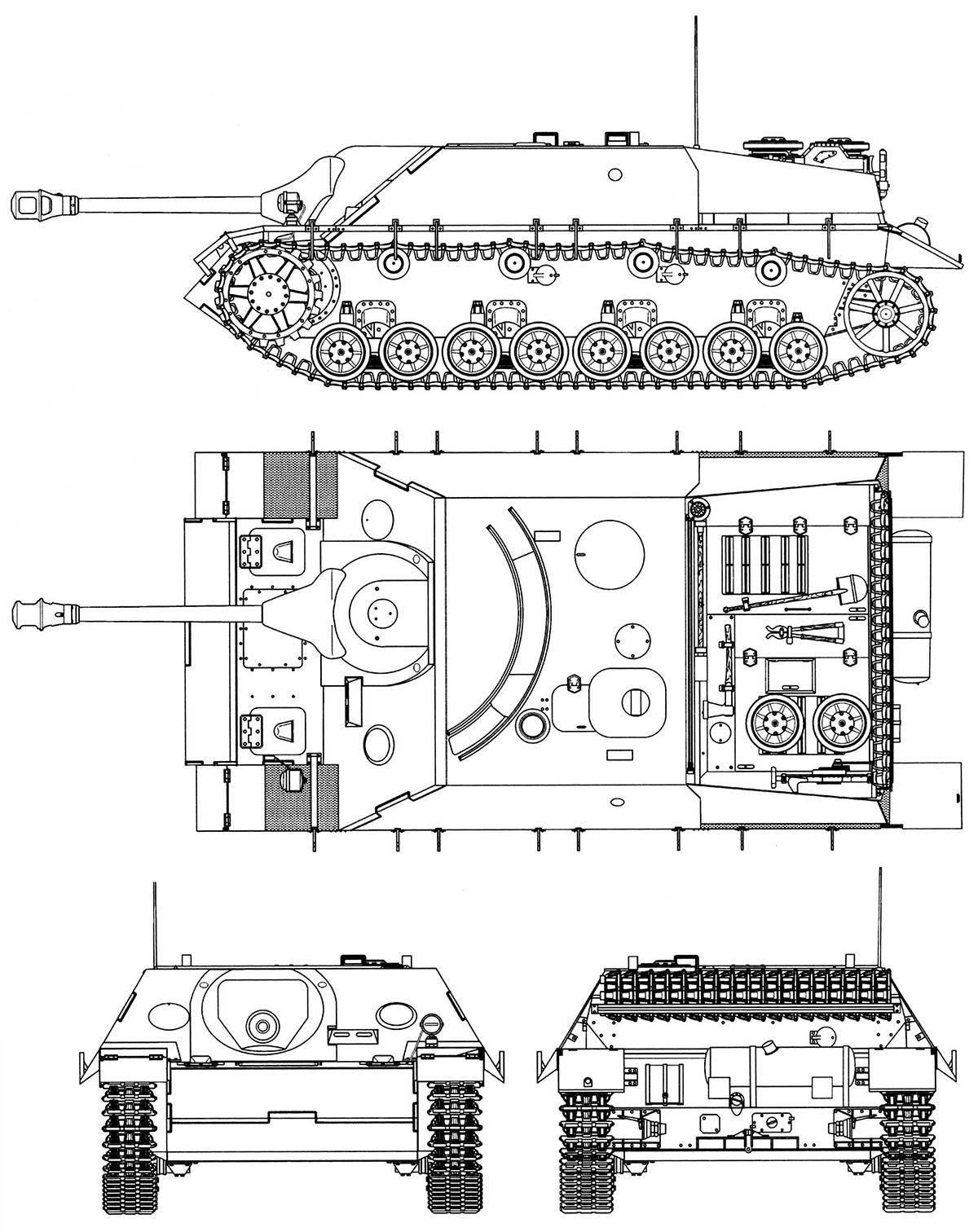 Чертеж истребителя танков Jagdpanzer IV
