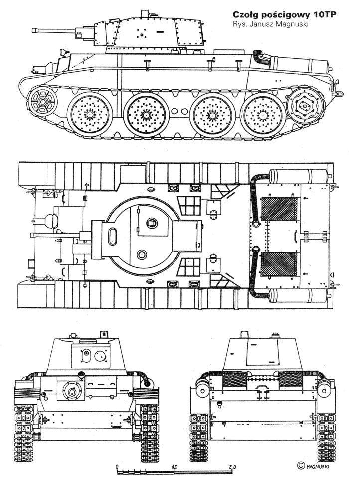 Чертеж польского танка 10TP