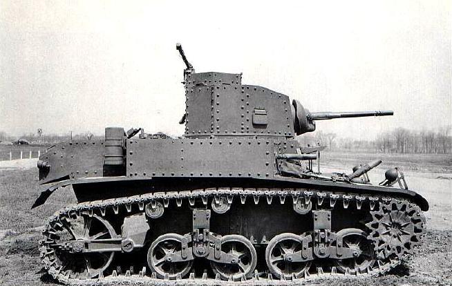 Легкий танк М3 'Стюарт'. Танки США в WWII