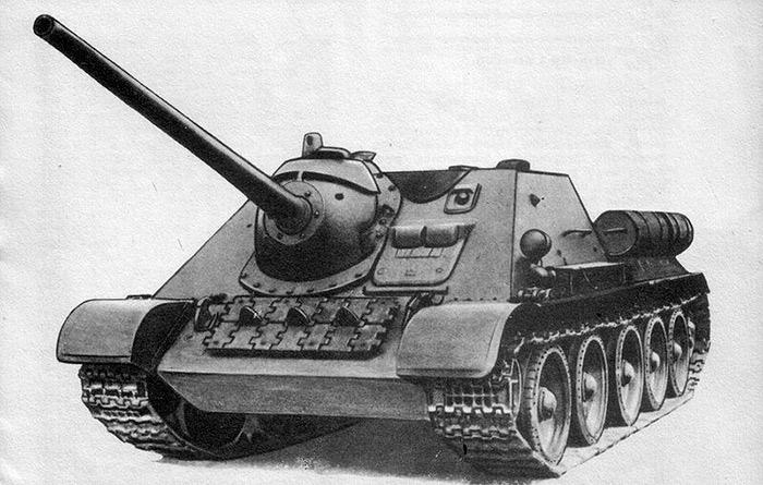 Самоходка Су-85 на базе танка Т-34