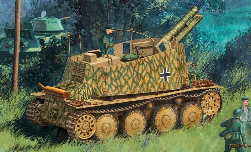 Самоходная пушка Sd.Kfz. 138/1 в варианте Ausf. H.