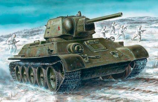 Средний танк Т-34 образца 1940 г. (Т-34-76)