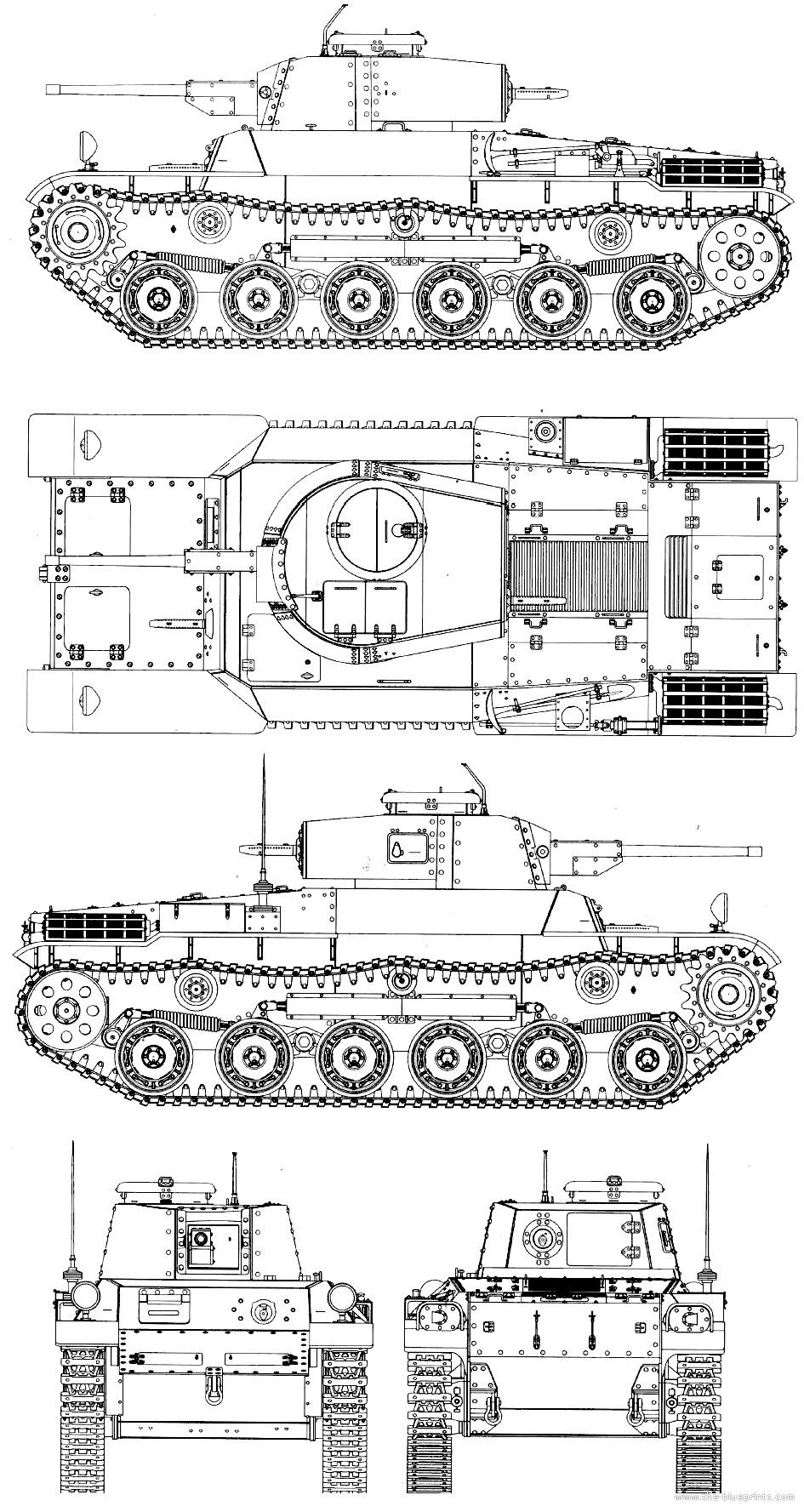 Чертеж японского танка Чи-Хе
