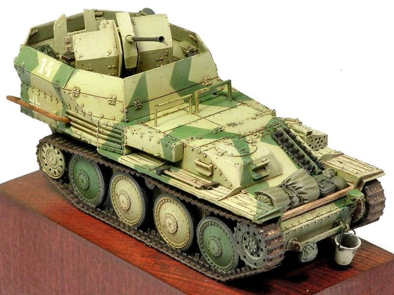Немецкий зенитный танк Flakpanzer 38 (t), созданный на базе чешского Pz-38 (модель).