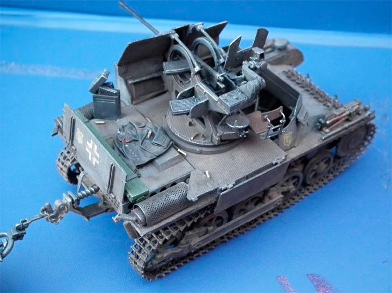 Зенитный танк «FlakPanzer»-I, вид сзади-сверху (модель)