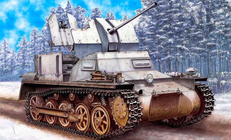 Зенитный танк Flakpanzer-I (Германия)