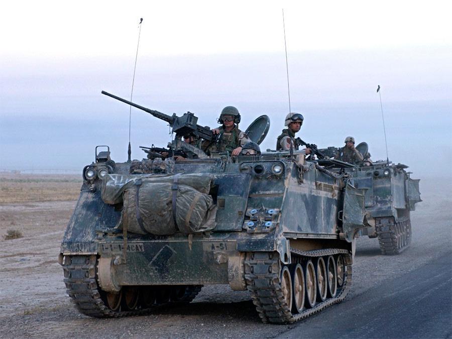 Американский бронетранспортер М113 в Ираке