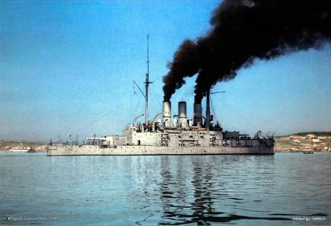 броненосец-Пантелеймон-(бывший-Потемкин),-1911-г,-черное-море