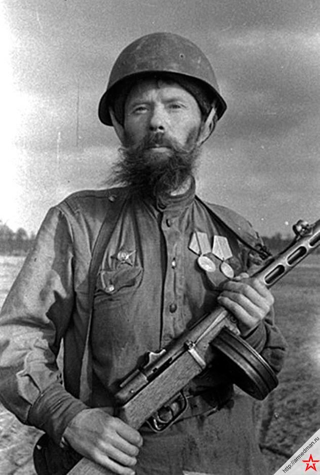 Ездовой санитарного взвода, участник трех войн Г. А. Лебедев, фотография Марка Гринберга