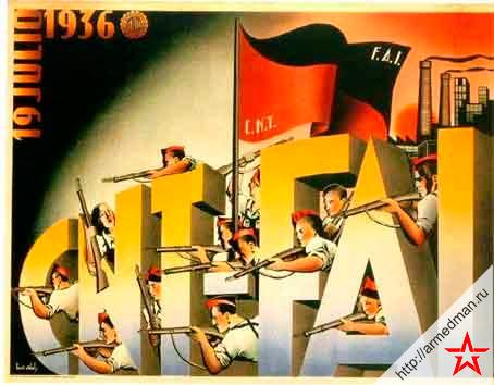 Плакат Федерации Анархистов Иберии