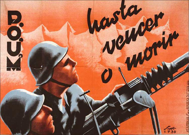 Испанский плакат «Победить или умереть»