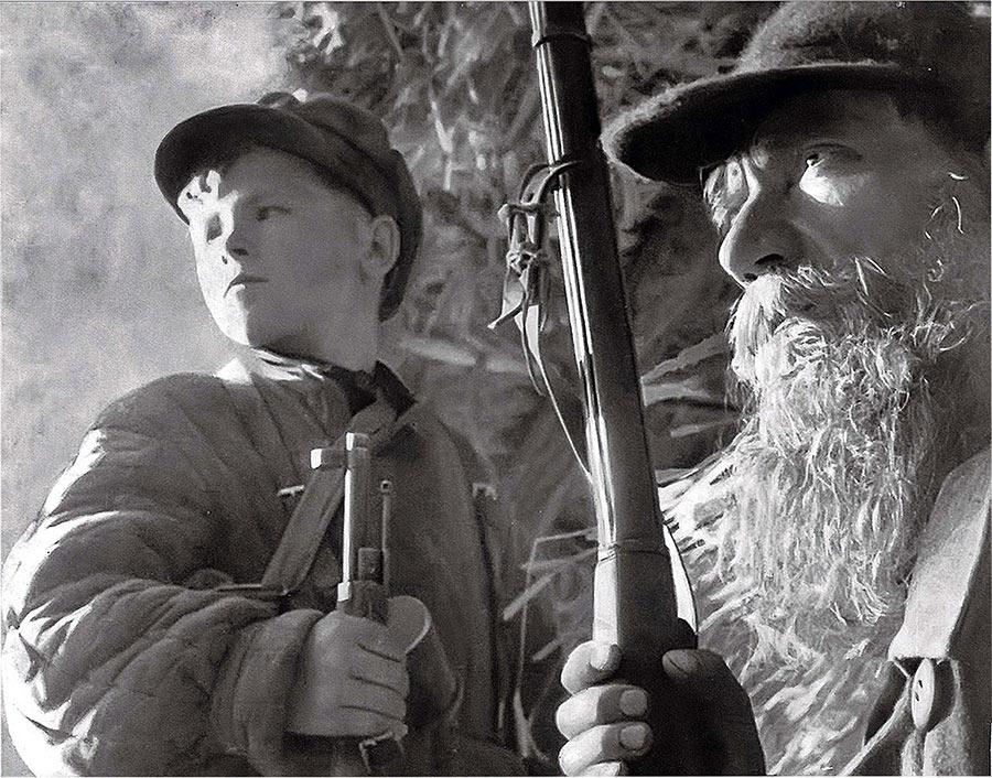 Снимок Михаила Трахмана, сделан 07.01.1943, Партизаны