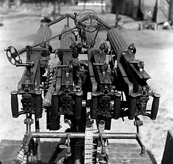 Зенитная установка из 4 пулеметов «максим» на едином станке.