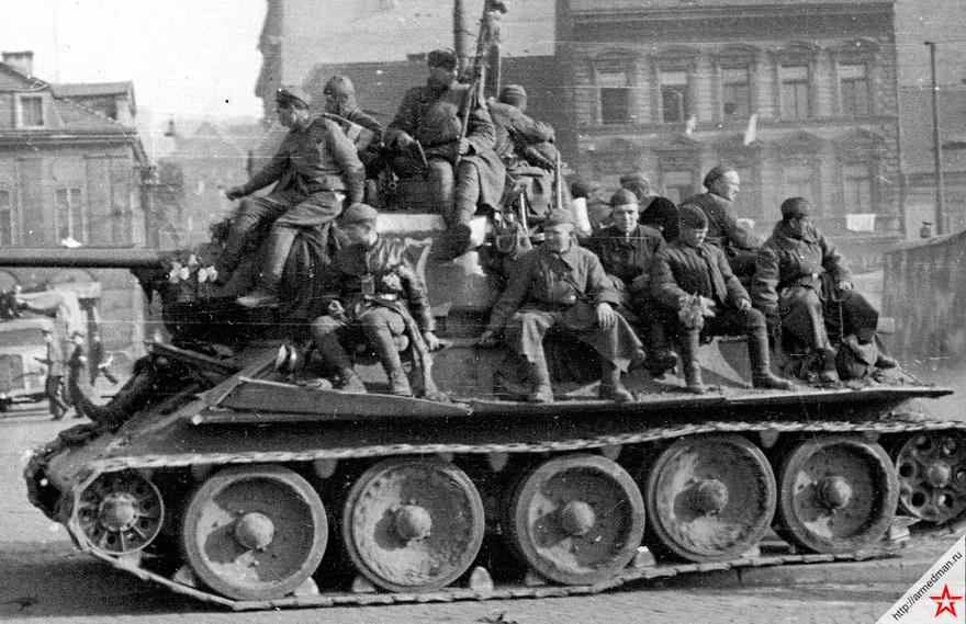 Т-34 с катками от немецкой Pz.V «пантеры»