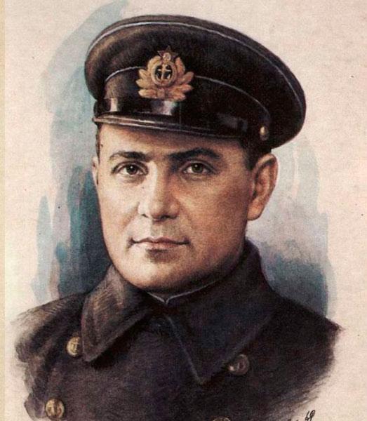 Цезарь Куников. Командуя морским десантом захватили важный плацдарм, отбили 18 атак неприятеля и ещё 7 дней, имея в запасе лишь захватываемые по ходу боев боеприпасы, удерживали плацдарм до подхода основных сил. Герой СССР посмертно.