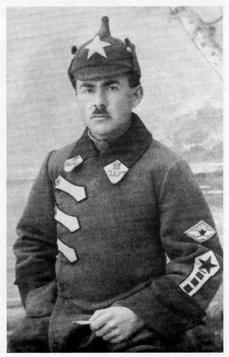 Командир 7-го отдельного артиллерийского воздухоплавательного отряда Ф.И. Шимановский, 1922 г