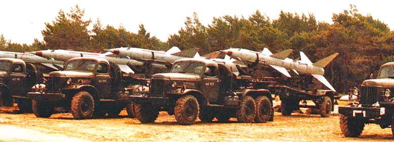 Транспортеры ракет ЗРК С-75