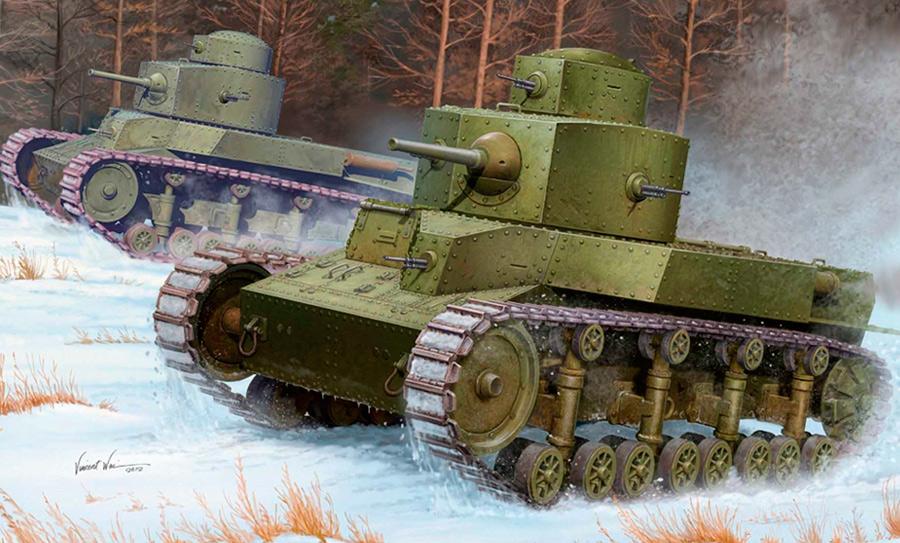 Советский танк Т-24 - последняя чисто советская разработка перед длинной чередой западных заимствований
