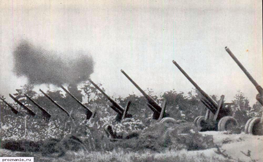 Прорыв немецкой обороны на Висле, январь 1945 года. Концентрация советской артиллерии на километр фронта