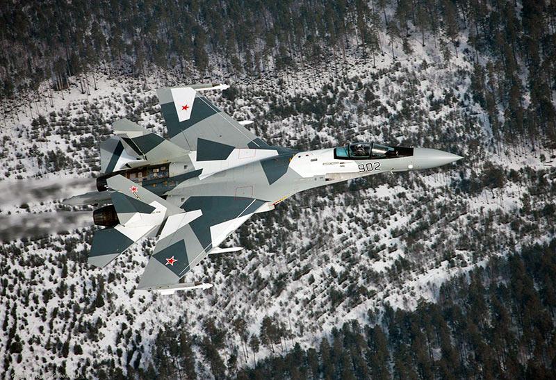 Су-35 закамуфлирован с учетом 'местных особенностей'.