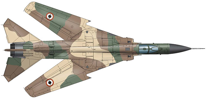 Также как и этот сирийский МиГ-23. В России он будет смотреться диковато