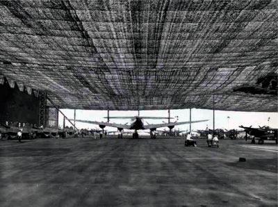 Аэродром под маскировочной сеткой