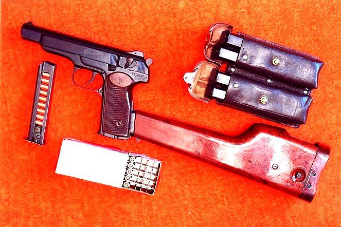 Автоматический пистолет Стечкина. Приклад в комплекте.