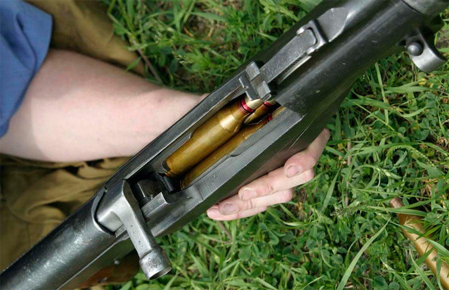 Патроны ПТРС весьма солидного калибра - 14,5 мм