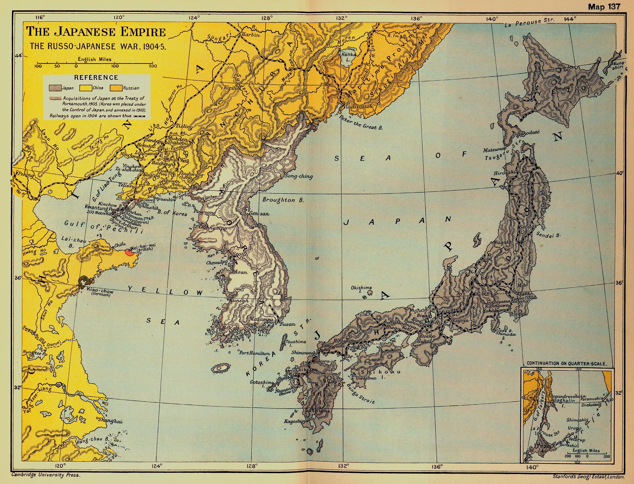 Карта понятна без перевода - железная дорога, европейские колонии, словом, у японцев были поводу к беспокойству