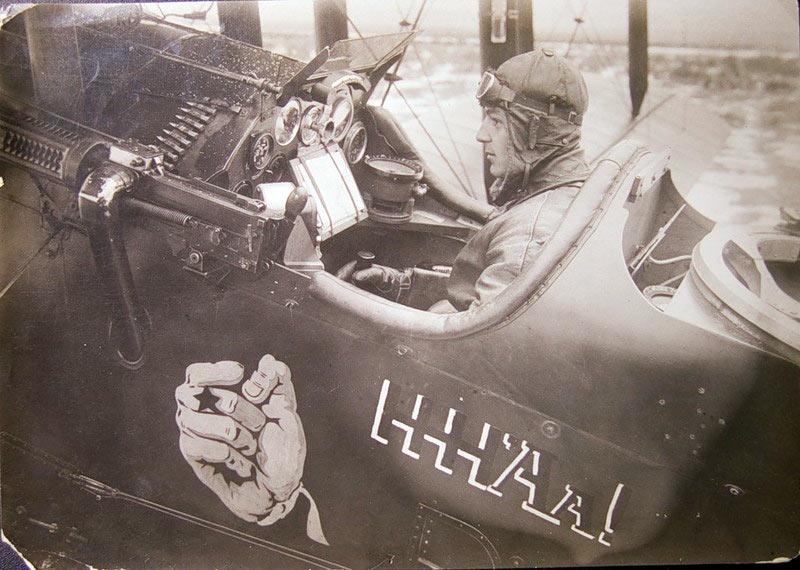 Пилот самолета Р-1 из авиаотряда «Дальневосточный ультиматум»