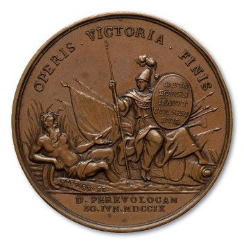 "Медаль ""За взятие в плен Левенгаупта"". 1709 г."