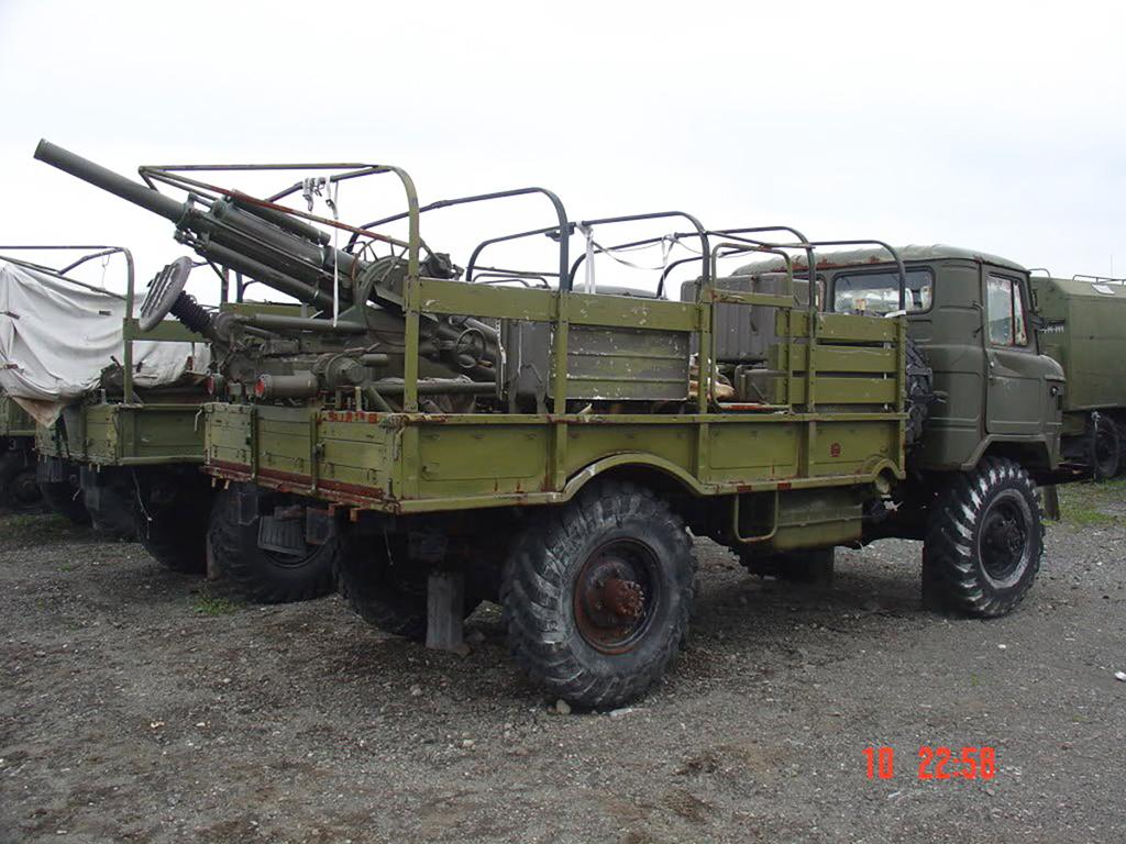 Миномет 2Б9М «Василек» установленный на ГАЗ-66