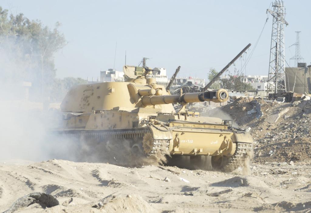САУ 2С3 Акация в Сирии