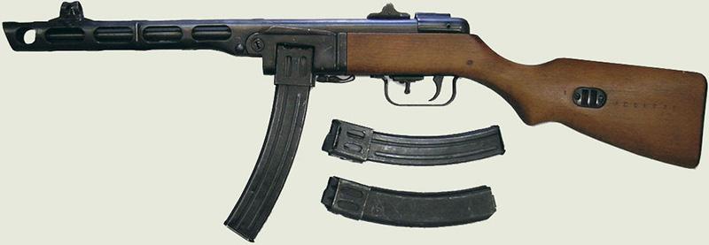 ППШ-41 - пистолет-пулемет Шпагина калибр 7,62-мм