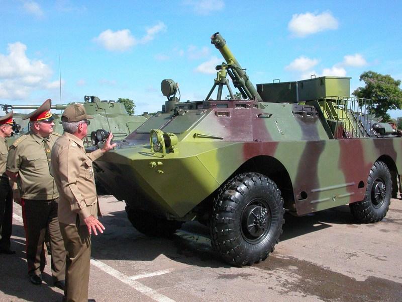 БРДМ-2-120 - кубинский <a href='https://arsenal-info.ru/b/book/1947457500/86' target='_self'>120-мм</a> самоходный миномёт на базе БРДМ-2