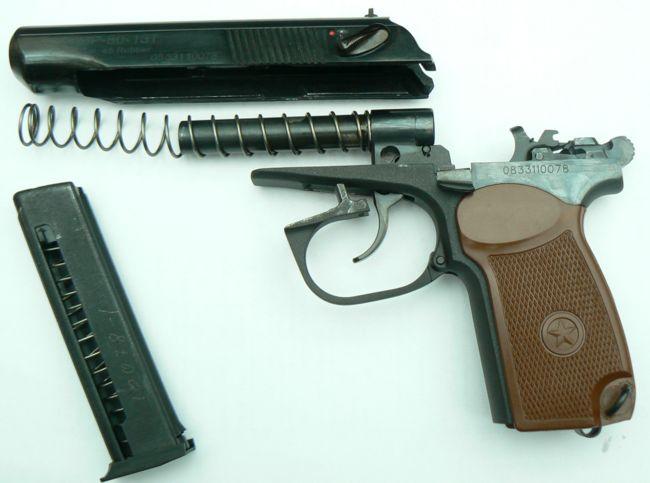 Макарыч, Иж-79-9Т, МР-79-9ТМ, МП-80-13Т травматический пистолет