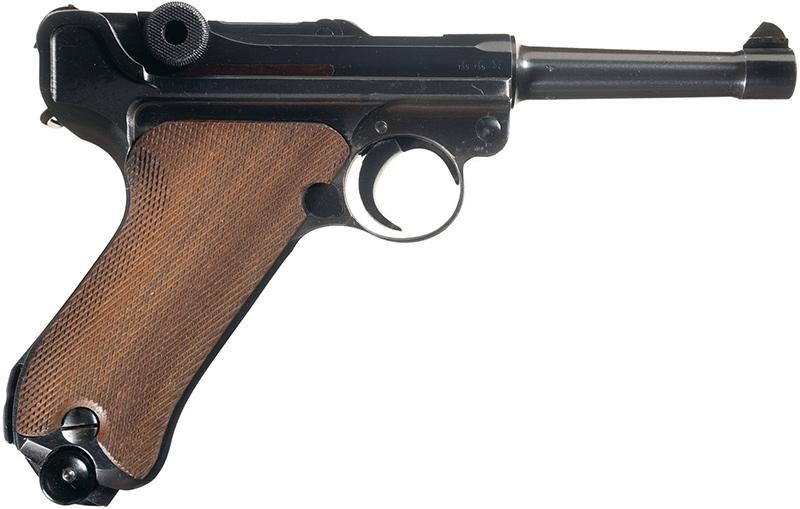 Пистолет Люгера Р.08 Парабеллум вид справа