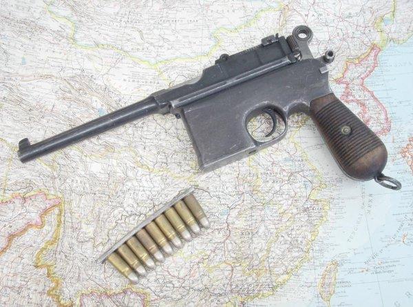 Пистолет Маузер К96 «Large Ring Hammer» в варианте «Flat Side» изготовленный по заказу итальянского ВМФ