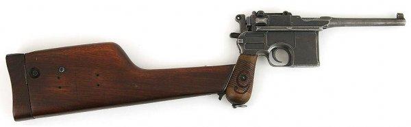 Пистолет Маузер К96 «Red Nine» с присоединенной кобурой-прикладом