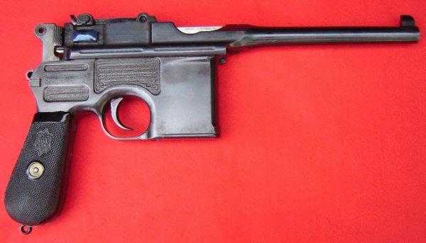 Коммерческий вариант пистолета Маузер К96 (Mauser-Selbstlade-Pistole) под очень мощный патрон 9mm Mauser Export