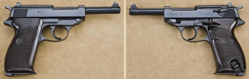 Пистолет Walther P.38 с клеймом «ac 41» на затворе-кожухе.