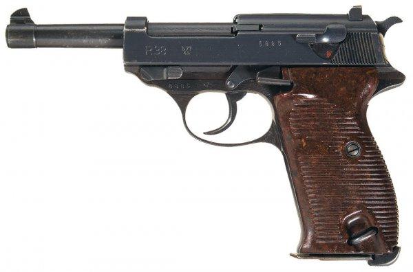Walther P.38 с обозначением «byf 44», выпущенный в 1944 году